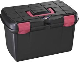 Tack Box - Medium - Black/Fuchsia