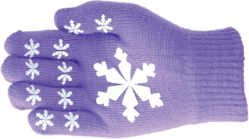 Hy5 Magic Patterned Gloves Adult Purple with Snowflakes