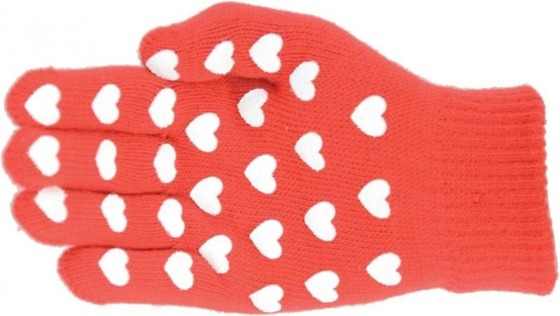 Hy5 Magic Patterned Gloves Adult Red with Hearts