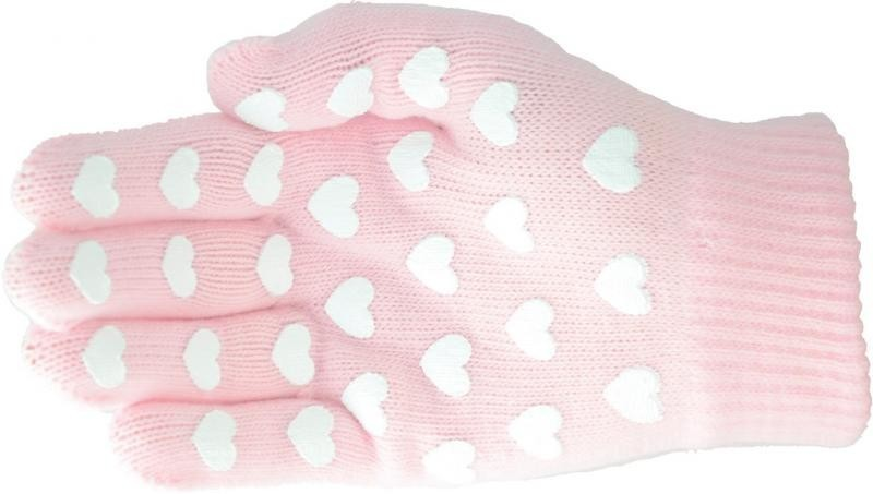 Hy5 Magic Patterned Gloves Adult Pink with Hearts
