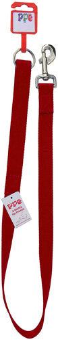 "Red Braided Dog Lead 48"" x 9mm"