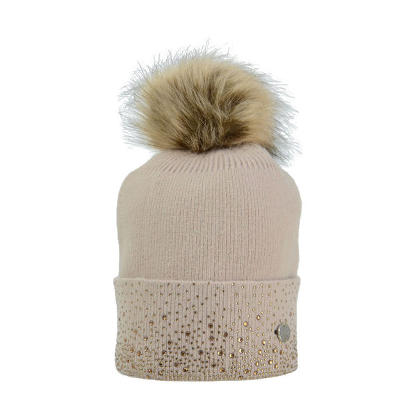HyEquestrian Alaska Two Tone Diamante Bobble Hat image #1