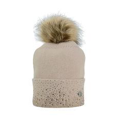 HyEquestrian Alaska Two Tone Diamante Bobble Hat