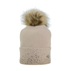 HyEquestrian Alaska Two Tone Diamante Bobble Hat