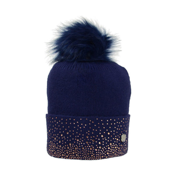 HyEquestrian Alaska Two Tone Diamante Bobble Hat image #3