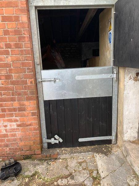 Metal Galvanised Frame & Custom Painted Stable Door image #2