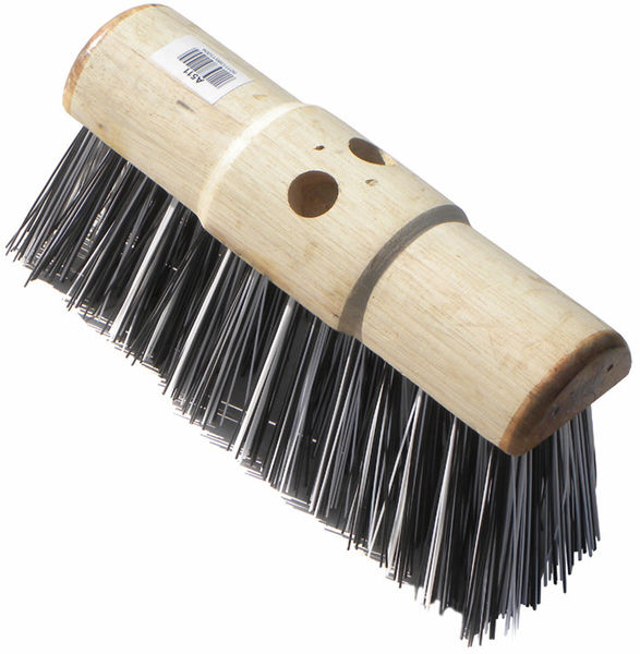 "13"" Black and White Broom Head image #1"