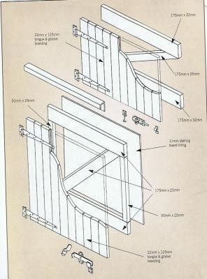 43ins DIY Stable Door with Tee Hinges