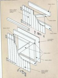 43ins DIY Stable Door with Tee Hinges