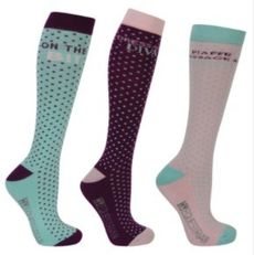 Hy Equestrian Dressage Socks (Pack of 3)