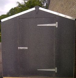 Garden Shed Made From Recycled Plastic Sheets