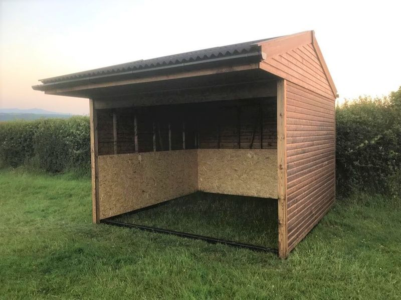 Open Fronted Field Shelter with Black Painted Subframe  image #1
