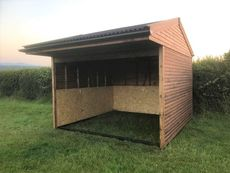 Open Fronted Field Shelter with Black Painted Subframe