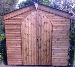 Arched Door Garden Building