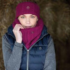 CABLE TWIST KNIT SNOOD