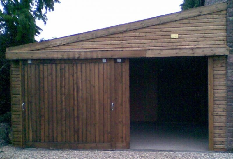 Lean To Double Garage Added To Stone Built Cottage Rj
