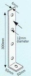 Heavy L bracket 300mm galv