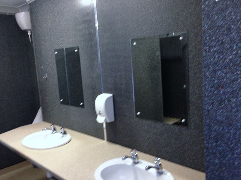 Female Toilets in Commercial Building Lined with Recycled Plastic