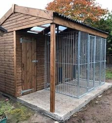 Double Dog Kennel With Store Room