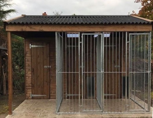 Double Dog Kennel With Store Room image #5