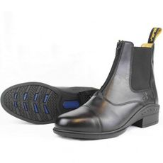Elegance Leather Paddock Zip Boots