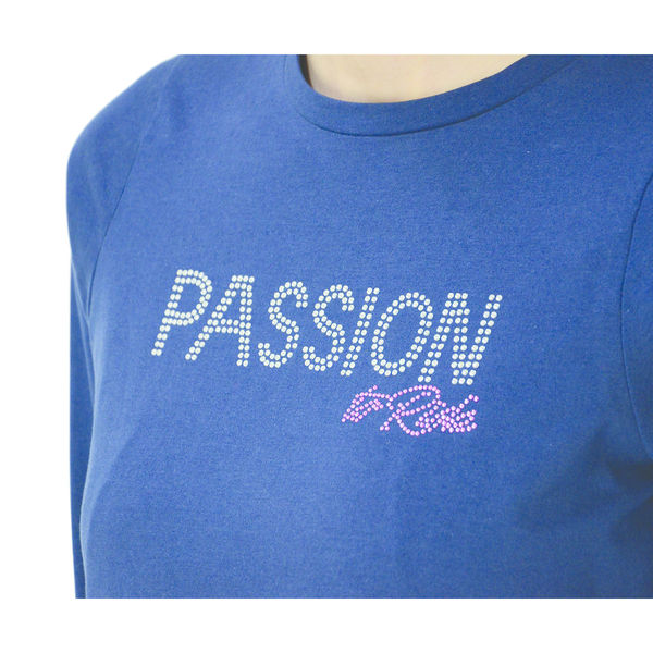 Hy FASHION Passion to Ride T-Shirt Navy XL (16-18)