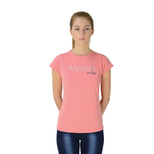Hy FASHION Passion to Ride T-Shirt Coral XL (16-18)