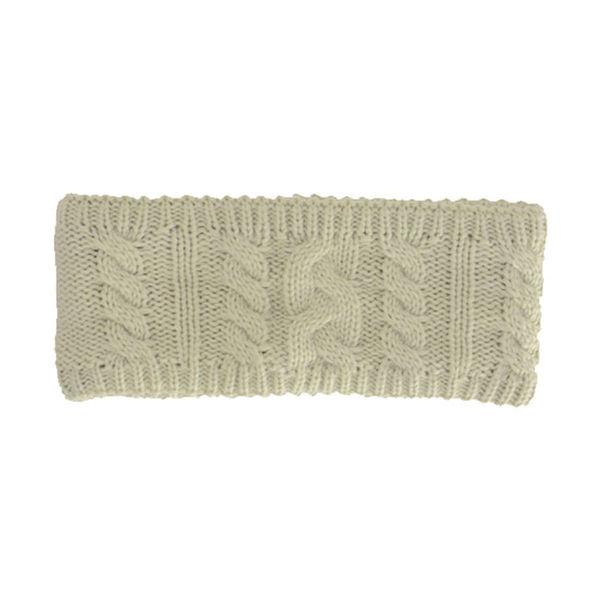 HyFASHION Meribel Cable Knit Headband cream