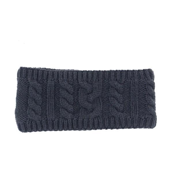 HyFASHION Meribel Cable Knit Headband Navy