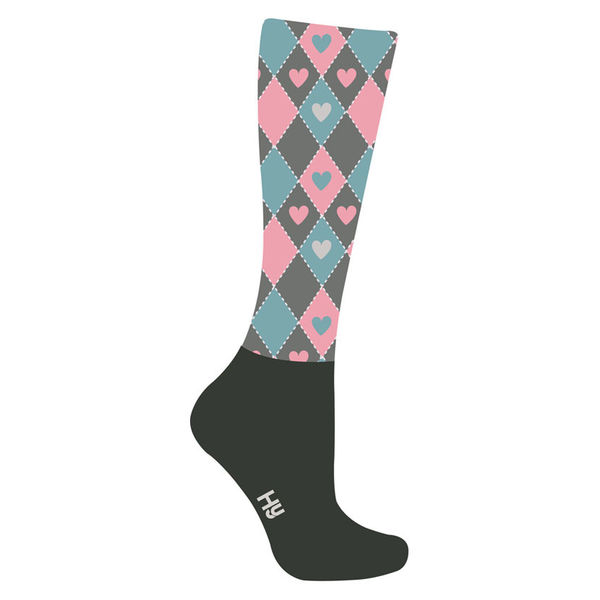 HyFASHION Heart Pattern Riding Socks