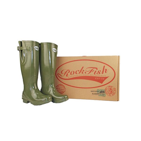 Rockfish Women's Tall Adjustable Gloss Wellington image #1