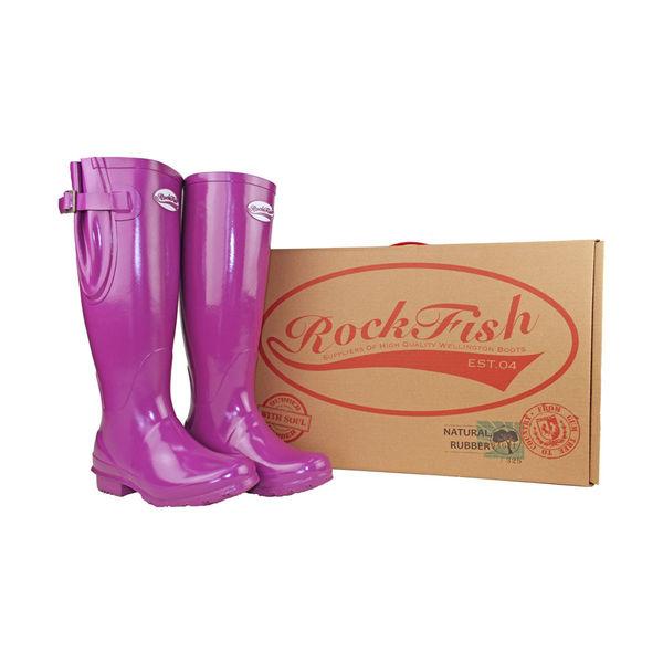 Rockfish Women's Tall Adjustable Gloss Wellington image #4