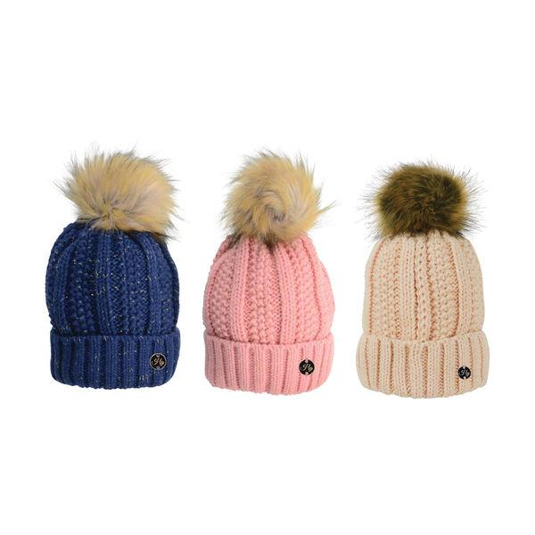 HyFASHION Aspen Metallic creamBobble Hat