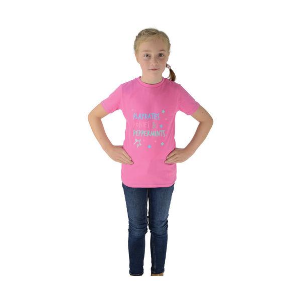 Zeddy Playdates T-Shirt Pink/Blue 5-6yrs