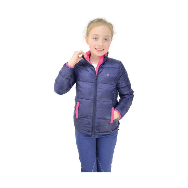 Annabelle Padded Jacket by Little Rider Navy/Pink 5-6yrs