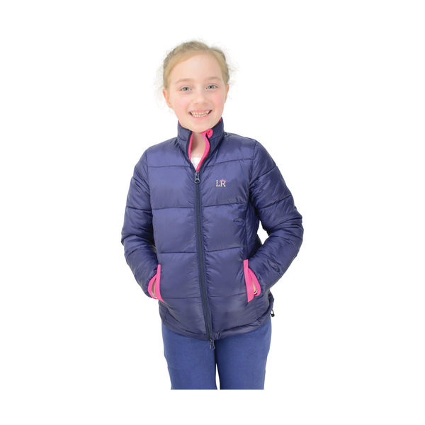 Annabelle Padded Jacket by Little Rider Navy/Pink 7-8yrs