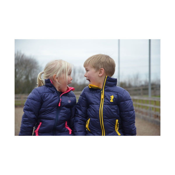 Annabelle Padded Jacket by Little Rider Navy/Pink 3-4yrs