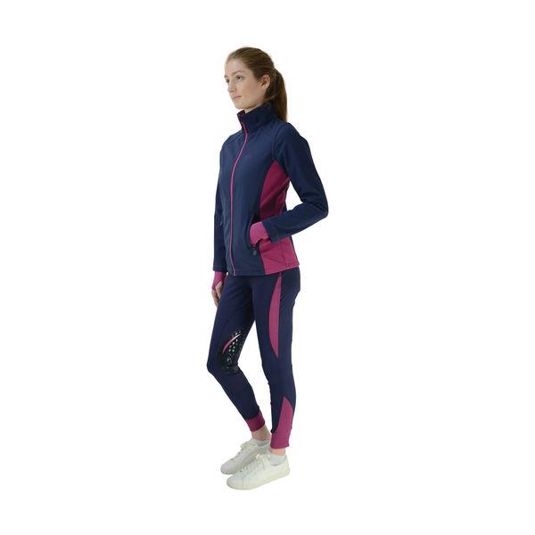 HyFASHION Sport Active + Softshell Jacket navy/port royal XS