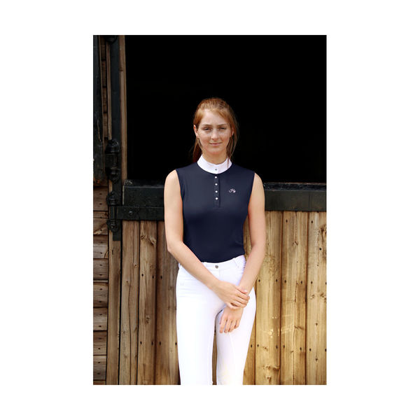 HyFASHION Sophia Sleeveless Show Shirt, Monaco Navy L (14-16)