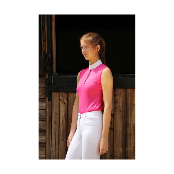 HyFASHION Sophia Sleeveless Show Shirt, Raspberry Pink M (12-14)
