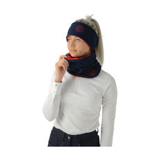 Hy Signature Soft Fleece Neck Warmer, navy/red