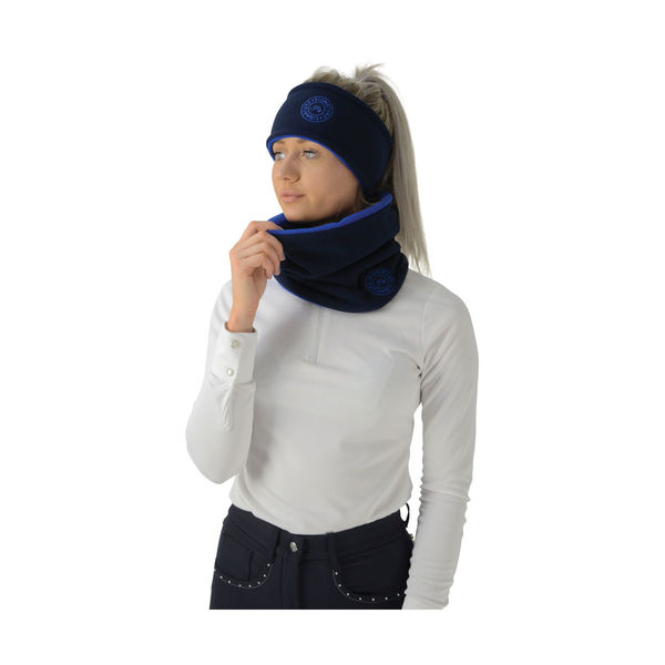 Hy Signature Soft Fleece Neck Warmer, navy/blue