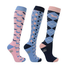 HyFashion Liza Dog Print Socks (Pack of 3)