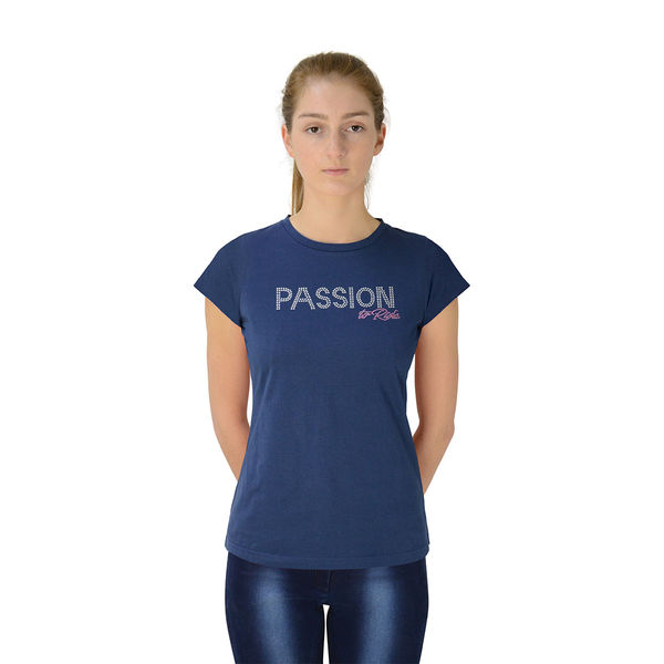 Hy FASHION Passion to Ride T-Shirt Navy XS (8-10)