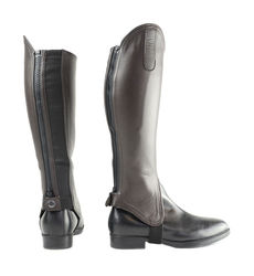 Hy Leather Gaiters - BROWN