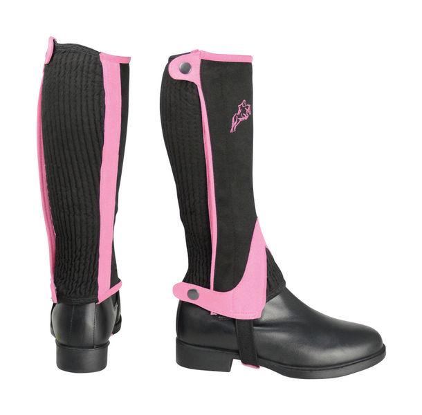 Hy Two Tone Amara Child Half Chaps in Black/Pink image #1