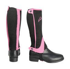 Hy Two Tone Amara Child Half Chaps in Black/Pink