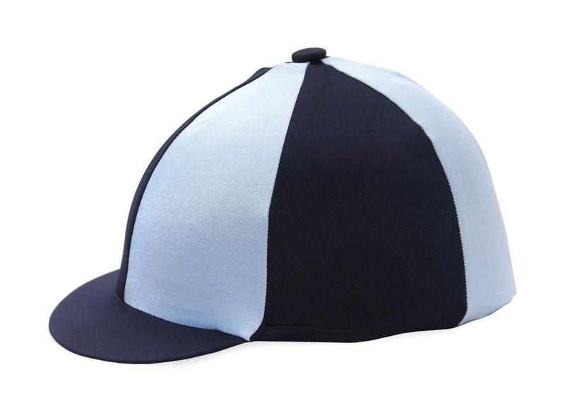 Hy Two Tone Lycra Silk Navy/Pale Blue