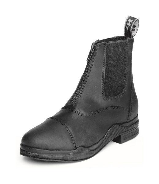 HyLAND Wax Leather Zip Boot - Black