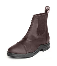 HyLAND Wax Leather Zip Boot - Brown